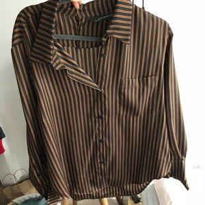 Brand new style Zara silky blouse size small